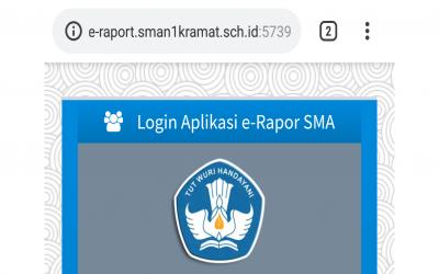 Melihat Raport Online Untuk Kelas X SMA Negeri 1 Kramat 2018/2019