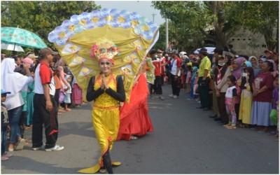 SMA Negeri 1 Kramat dalam acara Partisipasi Kegiatan Karnaval Peringatan HUT RI Kec. Kramat Tahun 2017